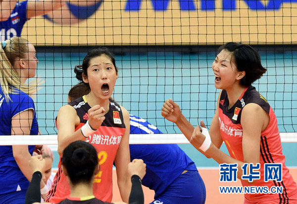 中国女排时隔16年再度问鼎大冠军杯