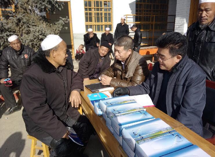 化隆县法律援助中心深入农村开展法律援助宣传活动