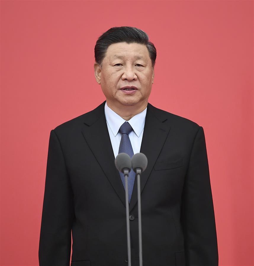 (时政)(3)习近平向中国人民警察队伍授旗并致训词