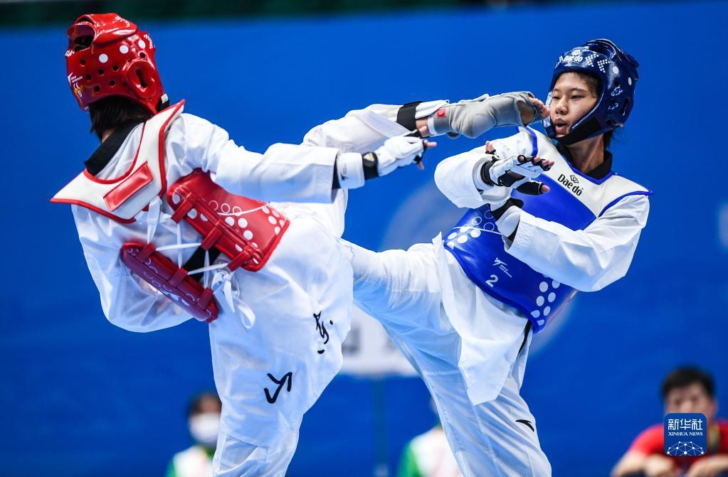 全运会-跆拳道女子49公斤级决赛:天津队选手左菊获得金牌